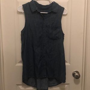 Banana Republic sleeveless button down.
